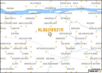 map of Młodzieszyn