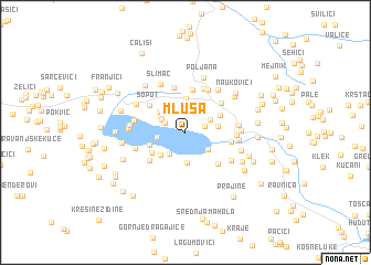 map of Mluša