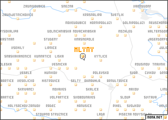 map of Mlýny
