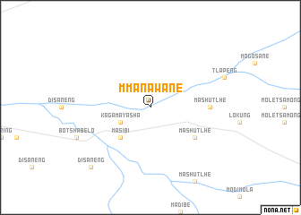 map of Mmanawane