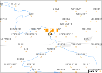 map of Mnishin