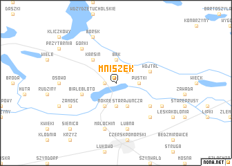 map of Mniszek