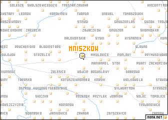map of Mniszków