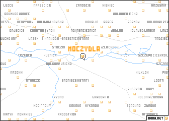 map of Moczydła