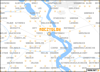 map of Moczydłow