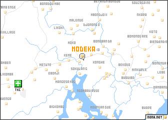 map of Modeka