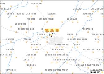 Modena Italy map nonanet