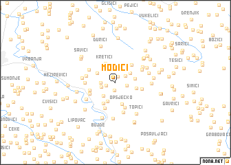 map of Modići