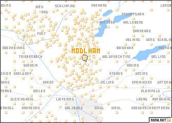 map of Mödlham