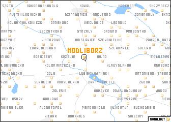 map of Modlibórz