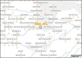 map of Mödling