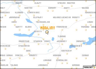 map of Modliny