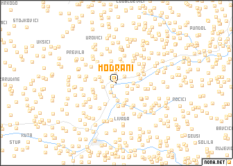map of Modrani