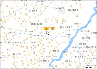 map of Modran