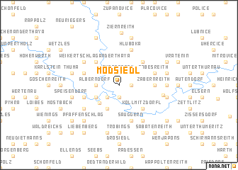 map of Modsiedl
