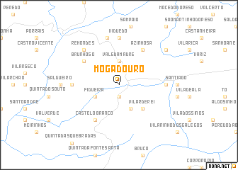 map of Mogadouro