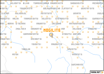map of Mogilite
