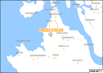 map of Mogocénega