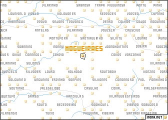map of Mogueirães