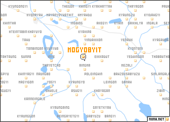 map of Mogyobyit