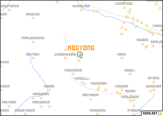 map of Mogyŏng