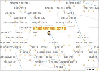 map of Moha Ben Bouazza