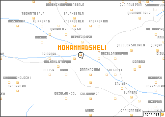 map of Moḩammad Shelī