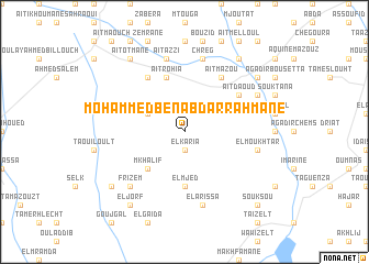 map of Mohammed Ben Abdarrahmane