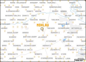 map of Möhlau