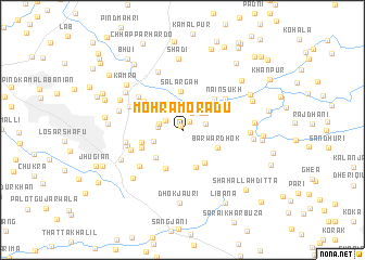 map of Mohra Morādu