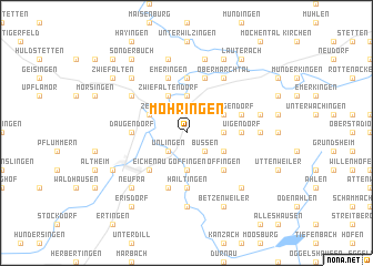 map of Möhringen