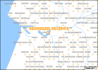 map of Moinho do Almoxarife