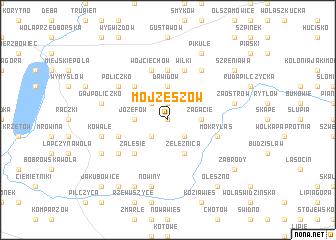 map of Mojżeszów