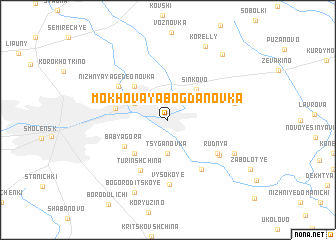 map of Mokhovaya Bogdanovka