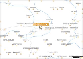 map of Mokrance