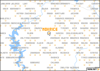 map of Mokřice