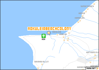 Map Of Mokuleia Beach Colony