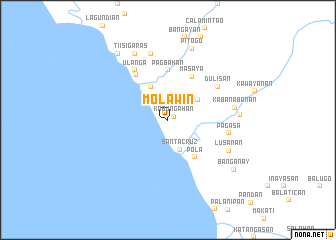 map of Molawin