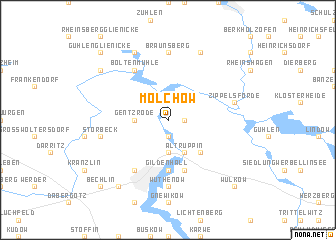 map of Molchow