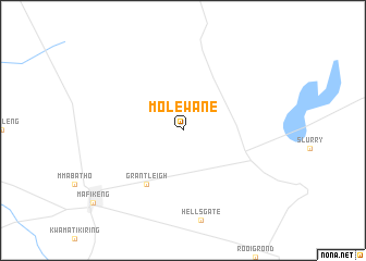 map of Molewane
