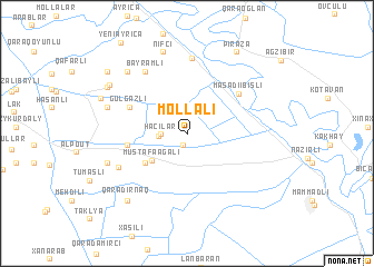 map of Mollalı