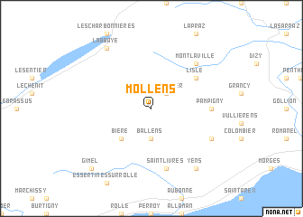 map of Mollens