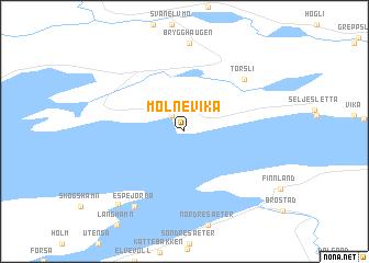 map of Mølnevika