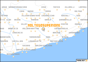 map of Moltedo Superiore