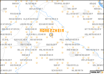 map of Mömerzheim