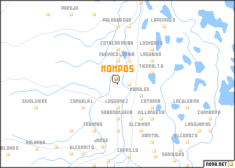 map of Mompós