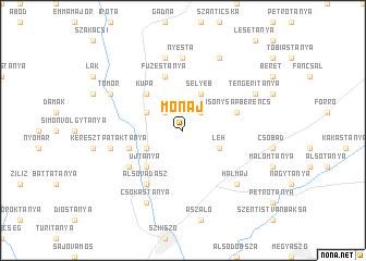 map of Monaj