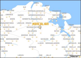 map of Moncalián