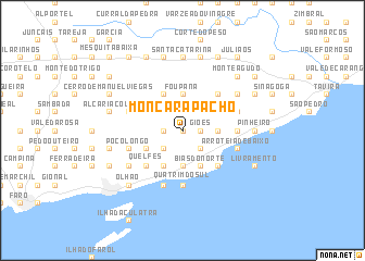 map of Moncarapacho