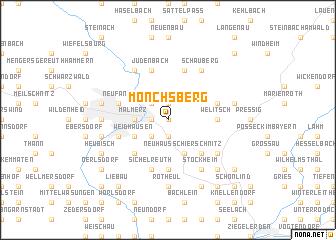 map of Mönchsberg